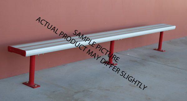 aluminium bench fixed mounting