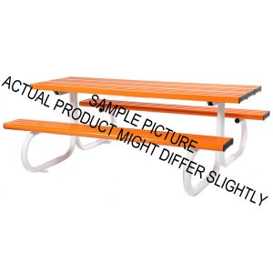 Aluminium Park Bench Orange