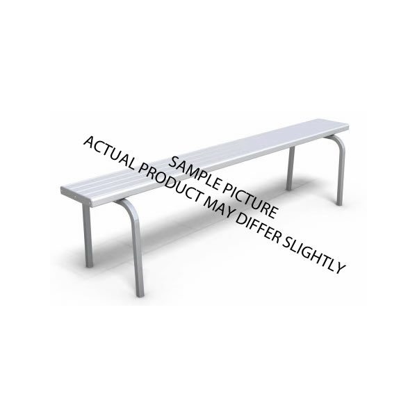 Aluminium Bench Seat With Radius Legs Without Back Support