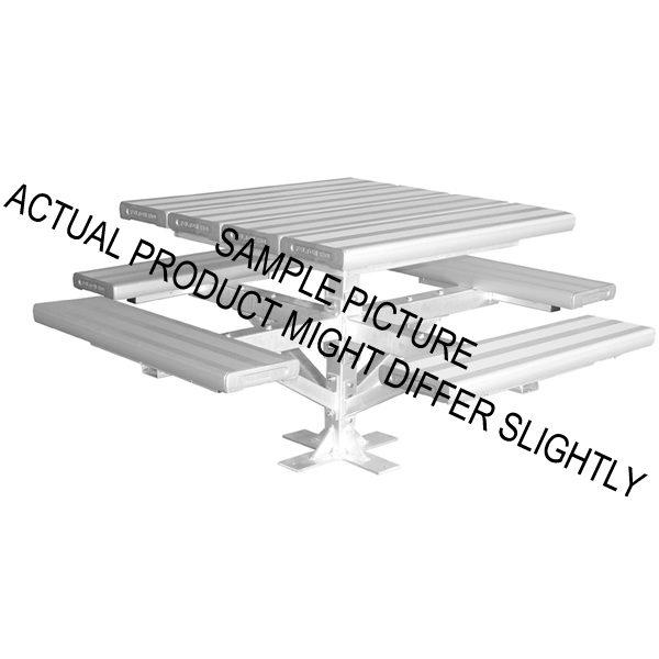 Aluminium Park Seating Four Sided Pedestal