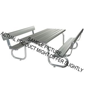 Aluminium Park Seating with Backrest