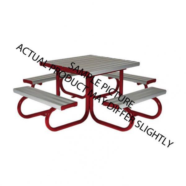 Aluminium powder coated preschool bench solution