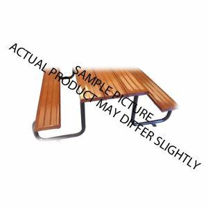 Woodgrain Aluminium Bench