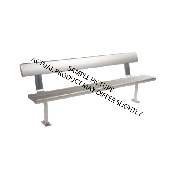 Aluminium Bench Seat With Back Support Wall Mounted Or On
