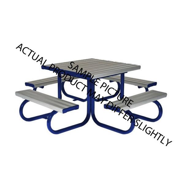 aluminium infant seating blue legs